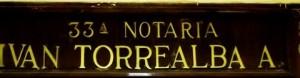 33° NOTARIA IVÁN TORREALBA ACEVEDO